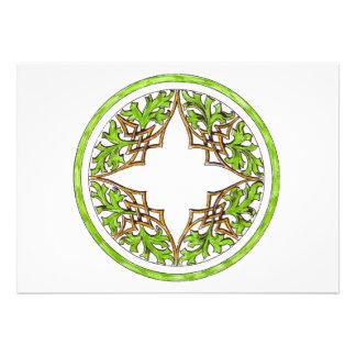 Victorian o gráfico ornamental céltico invitacion personalizada