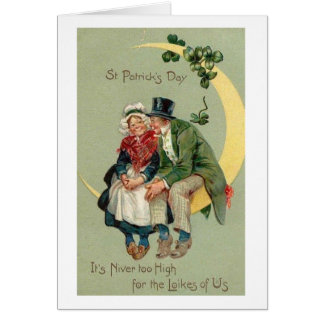 Victorian Old Couple St. Patrick's Day Card