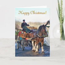 VICTORIAN OLD ENGLAND UK HOLIDAY CARD