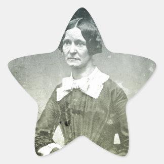 Victorian Old Woman Portrait Star Sticker