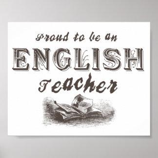 Victorian orgulloso del profesor de inglés póster