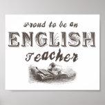 Victorian orgulloso del profesor de inglés posters