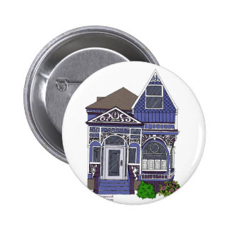 Victorian Painted Lady - Blue Button