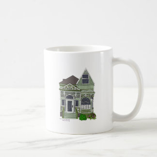 Victorian Painted Lady - green Coffee Mugs