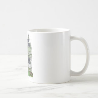 """Victorian """"Painted Lady"""" - green Mugs"""