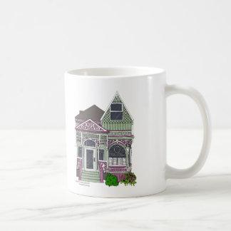 Victorian Painted Lady - Green Pink Mug