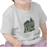 """Victorian """"Painted Lady"""" - green T Shirts"""