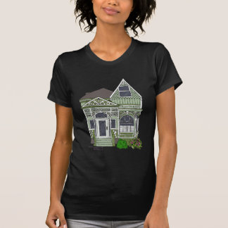 """Victorian """"Painted Lady"""" - green Tshirt"""