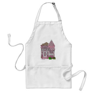"""Victorian """"Painted Lady"""" - pink Adult Apron"""