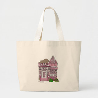 """Victorian """"Painted Lady"""" - pink Jumbo Tote Bag"""