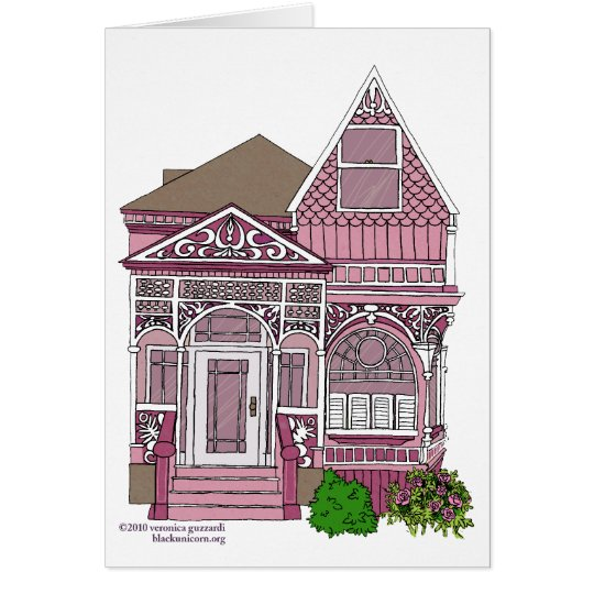 "Victorian ""Painted Lady"" - pink Card"