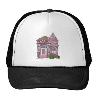 "Victorian ""Painted Lady"" - pink Mesh Hat"