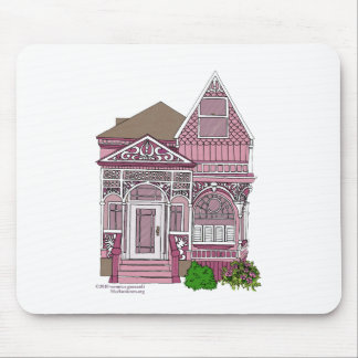 """Victorian """"Painted Lady"""" - pink Mouse Pad"""