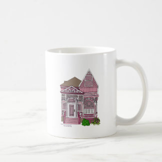 """Victorian """"Painted Lady"""" - pink Classic White Coffee Mug"""