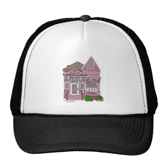 """Victorian """"Painted Lady"""" - pink Trucker Hat"""