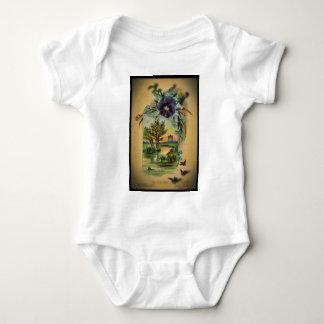 Victorian Pansy Pastoral Baby Bodysuit