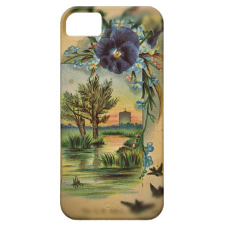 Victorian Pansy Pastoral iPhone SE/5/5s Case