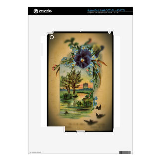 Victorian Pansy Pastoral iPad 3 Skins