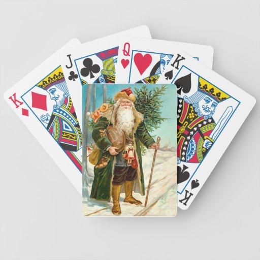 Victorian Papá Noel Cartas De Juego