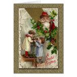 Victorian Papá Noel del vintage Tarjeta De Felicitación
