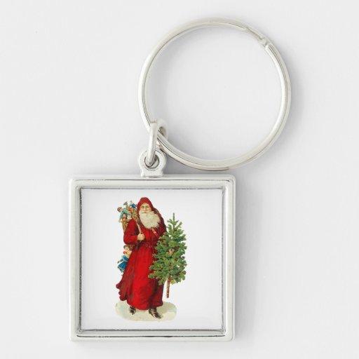 Victorian Papá Noel Llaveros Personalizados