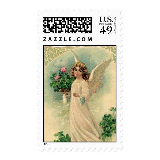 Victorian Pascua, flores angelicales del vintage d Sellos
