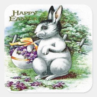 Victorian Pascua Pegatina Cuadrada