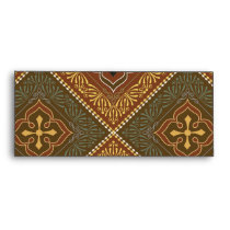 Victorian Pattern - Brown and Green Envelope