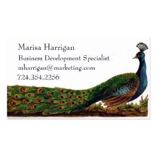 Victorian Peacock Business Cards