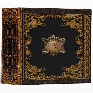 "Victorian personalizado Antiqued Lasher Carpeta 2"""
