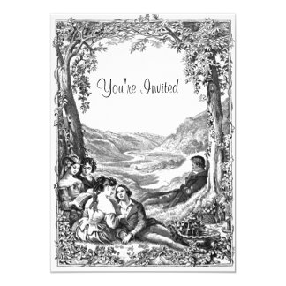 Victorian Picnic 5x7 Paper Invitation Card
