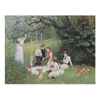 Victorian Picnic Postcard