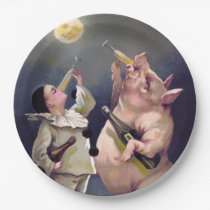 Victorian Pig Paper Plate
