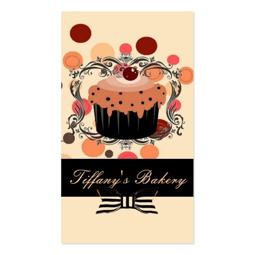 Victorian Pink Boutique Bakery Business Cards