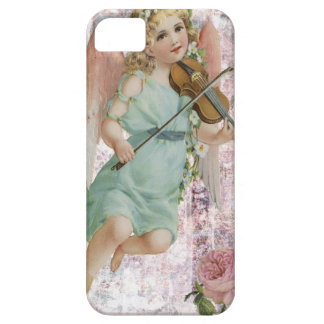 Victorian Pink Cherub Angel Playing Violin iPhone SE/5/5s Case