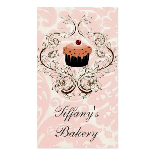 Victorian Pink Damask Boutique business cards