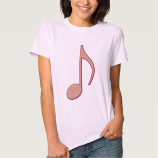 Victorian Pink Eighth Note T-shirt