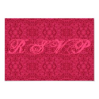 Victorian Pink Pattern RSVP Cards Menu Choices