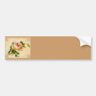 Victorian Pink Rose Bumper Sticker