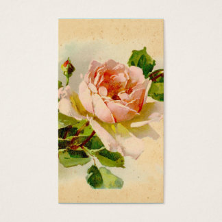 Victorian Pink Rose Business Cards