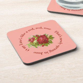 Victorian Pink Rose Coasters