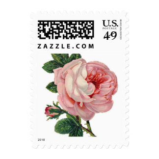 Victorian Pink Rose Stamps