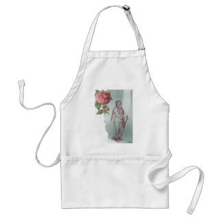 Victorian Pink Rose Steampunk Diver Collage Apron