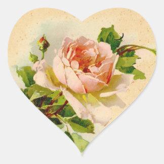 Victorian Pink Rose Sticker Tag