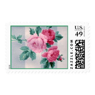 Victorian Pink Roses Postage