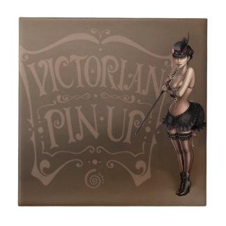 Victorian pinup girl tile