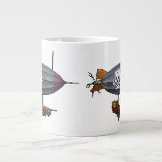 Victorian Pirate Steampunk Airship Coffee Mug