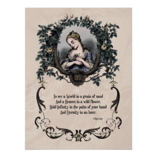 Victorian Poetry Glossy Perfect Poster - Blake