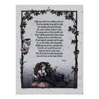 Victorian Poetry Glossy Perfect Poster - Keats