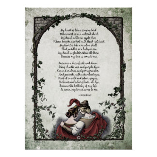 Victorian Poetry Glossy Perfect Poster - Rossetti